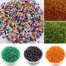 Hot Sale 1000pcs 2mm DIY Czech Glass Seed Round Spacer Beads Jewelry Making