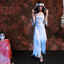 Halloween Sexy Zombie Bride Adult Cosplay Costume Ghost Dress Gown Robe Suit