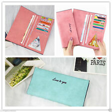 Womens lady Soft Leather Bowknot Clutch Wallet Long Card Purse Handbag uk
