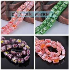 Charms New 13mm Colorful Oval Shape Crystal Lampwork Glass Loose Spacer Beads