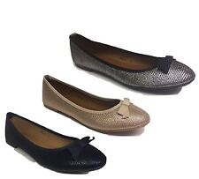 LADIES WOMENS FLAT PUMPS GLITTER BALLET BALLERINA DOLLY  BLACK SILVER GOLD SHOES