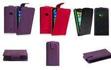 Leather Effect Flip Case Cover & Screen Protector for Nokia Lumia 625