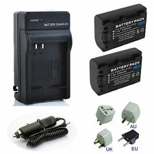 Battery NP-FV50 Charger fo SONY 4K Digital Camcorder FDR-AX33 FDR-AX53 FDR-AX100