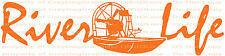 River Life Airboat Air Boat Fish Vinyl Decal Boat Sticker Fishing Fish Auto