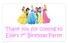 PERSONALISED STICKERS LABELS ADDRESS PARTY BAGS SWEET CONES DISNEY PRINCESS