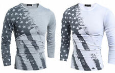 Men's Fashion Casual Slim Fit Crew-Neck T-Shirt Long Sleeve Muscle Basic Tee 500