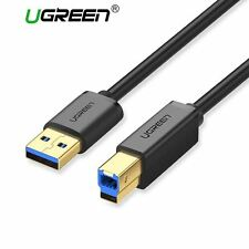 Ugreen USB 3.0 Printer Cable Type A Male to B Male Scanner Sync Data Charger Cor