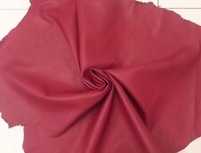 Lambskin Genuine Leather Hide Dark Rose Red Soft Touch 2 oz. Beautiful Hides