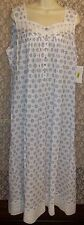 NWT L XL EILEEN WEST NIGHTGOWN 100% COTTON LAWN LONG SLEEVELESS NEW GOWN BALLET