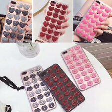 Luxury 3D Love Hearts Sex Lip TPU Case for iPhone 6 7 8 Plus Soft Silicone Cover