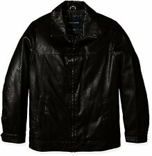 Tommy Hilfiger Men's Big and Tall Faux Leather Classic James Dean Jacket