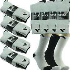 Lot 3,12 Pairs Ankle/Quarter Crew Mens Socks Cotton Long Size 9-11 10-13 ADI