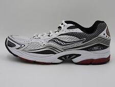 Saucony Grid Fusion 3 Running Shoe, 25063-2, White/Black/Silver/Red, Men's 9.5