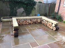 Golden Sand Buff Indian Sandstone Paving Natural Stone Patio Flags Garden Slabs