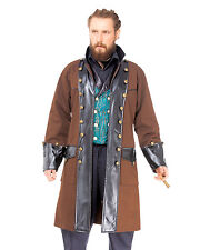Pirate Coat 18th Century Brown & Black Colonial Steampunk Style Costume Coat