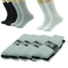 Lot 3,12 Pairs Ankle/Quarter Crew Mens Socks Cotton Long Size 9-11 10-13 Plain