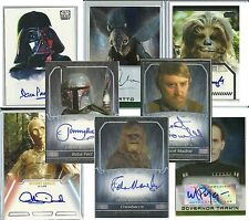 Topps Authentic: Star Wars - TRADING CARD AUTOGRAPHS - (1995-2015) PICK-LIST