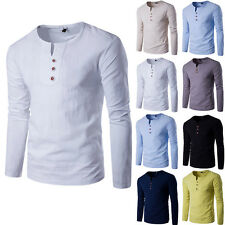 Fashion Men's Slim Fit Tee Crew Neck Long Sleeve Casual T-Shirt Tops Blouse