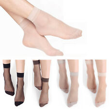 10 Pairs Women Ladies Elastic Stretchy Transparent Short Stockings Ankle Socks