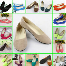 Women Ballerina Ballet Dolly Pump Flats Loafers Casual Ladies Slip On Boat Shoes