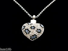 Sparkly Heart Cremation Urn Pendant Necklace Keepsake Jewelry Ash Holder +Funnel