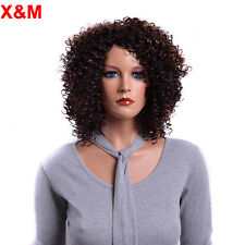 Short Curly Hair Dark Brown Wigs African American Wigs For Black Women Perruque
