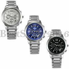 Fashion Men's Quartz Stainless Steel Chronograph Date Sport Analog Wrist Watch