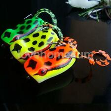 3D Popper Frog Top Water Fishing Lures Crank Bait Hook Snakehead Bait Tackle