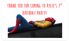PERSONALISED STICKERS LABELS ADDRESS PARTY BAGS SWEET CONES SPIDERMAN HOMECOMING