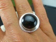 NEW TAXCO MEXICO MEXICAN 925 SOLID STERLING SILVER BLACK ONYX RING SZ 6