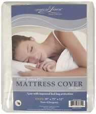 ZIPPERED STYLE MATTRESS COVER TWIN, FULL, QUEEN NON-ALLERGENIC WATER PROOF PVC