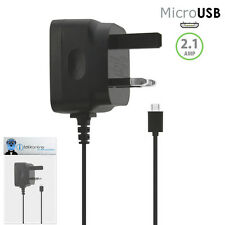 3 Pin 2.1 AMP UK MicroUSB Mains Charger for Samsung S8500 Wave