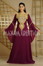 Moroccan Dubai Party Wear Georgette Kaftan Maxi Dress For Australian Women 3629