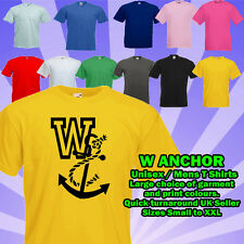 W ANCHOR T SHIRT W ANKER Funny Adult Humour rude stag do party insult offensive