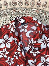 O'NEILL - Red-Burgundy-Grey-White Floral - Short Sleeve - Shirt - size M