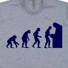Arcade Evolution T SHIRT Gamer Donkey Kong Space Invaders Eat Sleep Game
