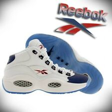 REEBOK Question Mid GS Boys Basketball Shoes SIZE 4-7 Iverson SZ V48097 Navy Red