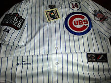 Brand New Chicago Cubs Throwback #23 Ryne Sandberg white 3Patch sewn Jersey men