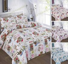 New Duvet Quilt Cover With Pillow Cases Bedding Set 'TILLY' Single Double King