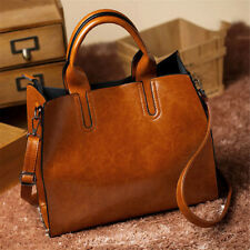 Women Lady Leather Handbag Purse Vintage Messenger Shoulder Crossbody Bag Tote