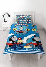 Thomas The Tank Engine Reversible Duvet Cover Set Blue Quilt Cover Pillow Case