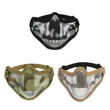 Outdoor Hunting Half Lower Face Metal Steel Mesh Protective Mask Breathable