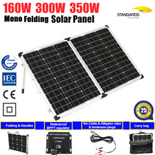 160W 200W Folding Solar Panel Kit 12V Battery 4WD Camping Portable Mono Charging