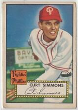 1952 Topps Curt Simmons #203 VINTAGE PHILLIES STAR $60 HBV EX-NM A14