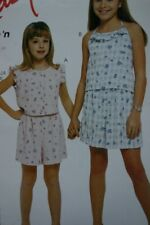 McCALL'S 2167 GIRLS SUMMER TOPS SHORTS PATTERN SIZES 3 TO 14