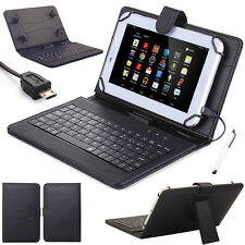 "For 10"" 10.1"" inch Tablets Pattern Leather Case Cover Micro USB Keyboard+Stylus"