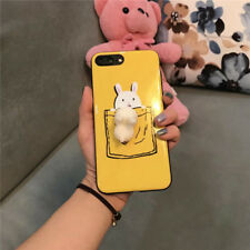 3D Rabbit Cute Soft Shockproof Yellow Phone Case Cover For iPhone 6 6s 7 Plus