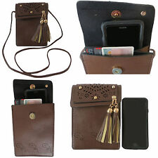 Purse for Women with Cross Body Shoulder Strap Faux Leather Cell Phone Bag
