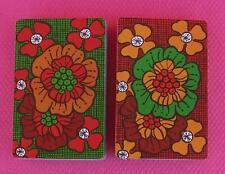 Kent Retro Flowers Vintage Double Deck of Playing Cards