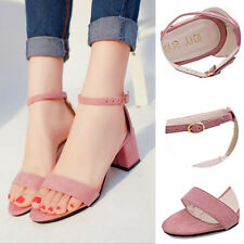 1 Pair Women's Sandles Thick Heel Korean Style Gladiator Shoes